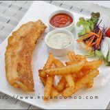 ปลาชุบแป้งทอด และ มันฝรั่งทอด (ฟิชแอนด์ชิปส์) พร้อม ทาร์ทาร์ซอส ทำเอง ง๊ายง่ายค่าาา  (Fish & Chips with Tartar Sauce)